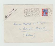 """LSC 1960 - Flamme  - COULOMMIERS -  """" Vallée Du Grand Morin Parc Des Capucins """" - Marcophilie (Lettres)"""