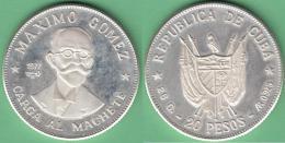 1977-MN-112 CUBA 1977 20$ FINE 925 SILVER PROOF. MAXIMO GOMEZ. 26gr UNC. - Cuba