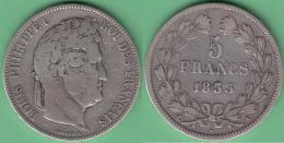 M259 FRANCE SILVER 5fr LOUIS PHILLIPPE I 1833 A. PARIS. - France