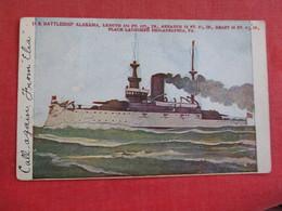 U.S. Battleship  Alabama   Ref 2834 - Warships