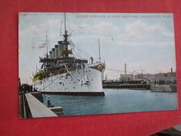 Cruiser Maryland In Dock Charlestown Mass.   Ref 2834 - Krieg