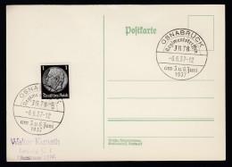 DR Postkarte Sonderstempel 1937 Osnabrück Ungelaufen K1395 - Deutschland