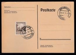 DR Postkarte Sonderstempel 1938 Innsbruck Herbstmesse Ungelaufen K1396 - Deutschland
