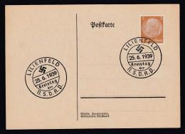 DR Postkarte Sonderstempel Kreistag NSDAP 1939 Lilienfeld Ungelaufen K1397 - Deutschland