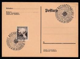 DR Postkarte Sonderstempel 1939 Aschaffenburg Damm Ungelaufen K1399 - Deutschland