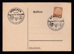 DR Postkarte Sonderstempel 1939 München Ungelaufen K1401 - Deutschland