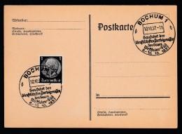 DR Postkarte Sonderstempel Gaufahrt NSDAP 1937 Bochum Ungelaufen K1410 - Deutschland