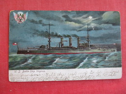 U.S.S.  Battle Ship Virgina Glitter Addedref 2834 - Warships
