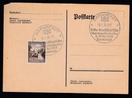 DR Postkarte Sonderstempel 1938 Darmstadt Ungelaufen K1420 - Deutschland
