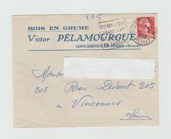 LSC 1959 - Entête BOIS EN GRUME - Ste Geneviève Sur Argence (Aveyron) + Cachet Daguin - Marcophilie (Lettres)
