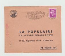 Devant D'enveloppe Seul -1969 - Jolie Flamme - LANGRES - Marcophilie (Lettres)
