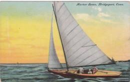 Connecticut Bridgeport Harbor Scene Sailing - Bridgeport