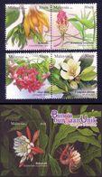 Malaysia 2008 S#1214-1216 Unique Flowers Set+M/S MNH Flora Unusual - Malaysia (1964-...)