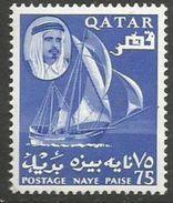 Qatar - 1961 Dhow 75np MH *    Sc 32 - Qatar