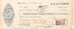 Mandat Timbré 1931-imprimerie Lourtioux Montauban-dans L'etat - Fiscali