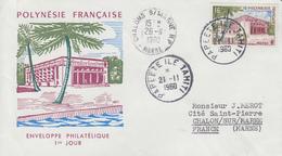 Enveloppe  FDC  1er Jour  POLYNESIE   Hotel  Des  Postes   PAPEETE   1960 - Poste