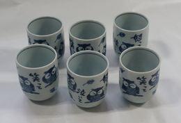 6 Tea Cups - Ceramics & Pottery