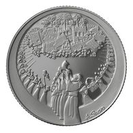 The Walls Of Jericho - 38.7 Mm, 1 Ounce Silver / 999-Series Scenes From The Bible. - Israel