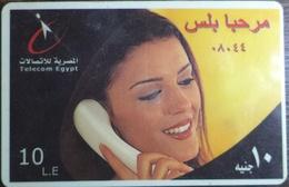 Egypt Telecom Marhaba Plus 10 LE Prepaid Card -Used  (with White Frame) (Egypte) (Egitto) (Ägypten) (Egipto) - Egipto
