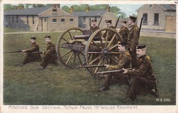 Machine Gun Section - Action Front 1st Welsh Regiment - Artillerie Guerre 14-18 - CAD Dijon (21) - Regimenten