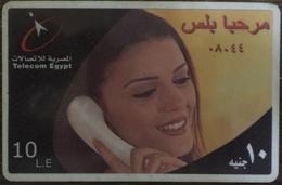 Egypt Telecom Marhaba Plus  10 LE Prepaid Card -Used (with Frame) (Egypte) (Egitto) (Ägypten) (Egipto) - Egypt