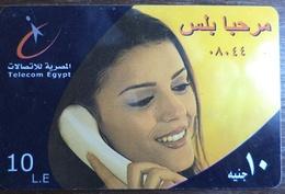 Egypt Telecom Marhaba Plus  10 LE Prepaid Card -Used (without Frame) (Egypte) (Egitto) (Ägypten) (Egipto) - Egypt