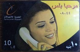 Egypt Telecom Marhaba Plus  10 LE Prepaid Card -Used (without Frame) (Egypte) (Egitto) (Ägypten) (Egipto) - Egipto