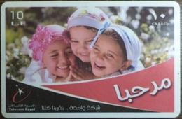 Egypt Telecom Marhaba 10 LE Prepaid Card -Used (with White Frame) (Egypte) (Egitto) (Ägypten) (Egipto) - Egipto