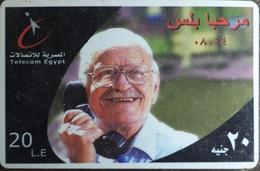 Egypt Telecom Marhaba PLus 20 LE Prepaid Card -Used (with White Frame) (Egypte) (Egitto) (Ägypten) (Egipto) - Egipto