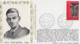 Enveloppe  Hommage  à  Tom  MAUREL   LE   PETIT   BORNAND   LES   GLIERES   1994 - Guerre Mondiale (Seconde)