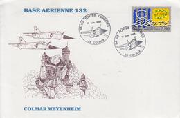Enveloppe   Journée  PORTES  OUVERTES     Base  Aérienne  132  COLMAR   1995 - Militaria
