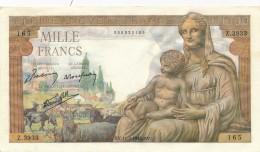 H34 - FRANCE - Billet De 1000 Francs Déesse DEMETER - 1 000 F 1942-1943 ''Déesse Déméter''