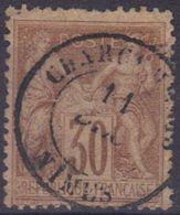 """Nimes (Gard) : Càd 15 """"Chargements"""" Sur Sage N°80, - 1876-1898 Sage (Type II)"""