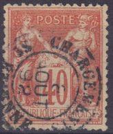 """St Etienne (Loire) : Càd 15 """"Chargements"""" Sur Sage N°94, - 1876-1898 Sage (Type II)"""