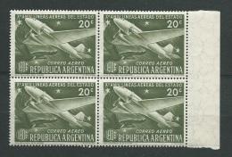 Argentine   - Aérien -   Yvert N°    39 ** Bloc De 4   Cw30506 - Argentina