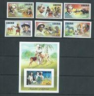 Liberia 1975 Dr Albert Schweitzer Set Of 6 & Airmail Imperforate MNH - Medicine