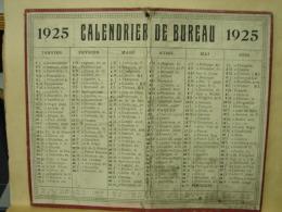 Calendrier. 7. Calendrier De Bureau De 1925. - Calendriers