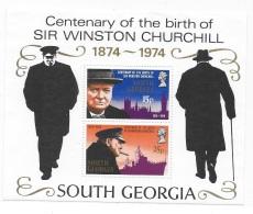South Georgia 1974 Sir Winston Churchill S/S MNH - Géorgie Du Sud