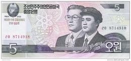 North Korea - Pick New - 5 Won 2002 - 2009 - Unc - Commemorative - Corea Del Nord