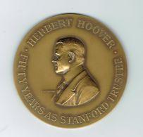 Médaille,Herbert Hoover,université De Stanford,par Devreese,épreuve - Professionnels/De Société