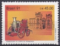 Brasilien Brasil 1991 Organisationen Feuerwehr Fire Brigade Dampfspritze Bauwerke, Mi. 2421 ** - Brasilien