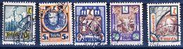 N°s 15 à 19 (Michel) 1ère Série Du Pays OBLITERES Avec Gomme Années 1926/1927 - Touva