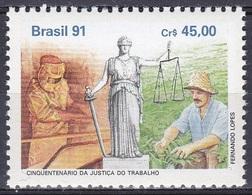 Brasilien Brasil 1991 Staatswesen Verwaltung Justiz Gerichte Arbeitsrecht Justice Court Employment Law, Mi. 2424 ** - Brazil