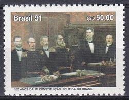 Brasilien Brasil 1991 Staatswesen Verfassung Constitution Kunst Kultur Gemälde Paintings Figueiredo, Mi. 2431 ** - Brasilien