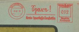 "Francotyp ""F"" Neustettin Spare Kreissparkasse Neustettin 12 Pf - Allemagne"