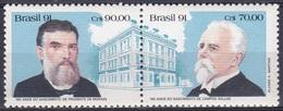Brasilien Brasil 1991 Staatswesen Geschichte History Persönlichkeiten Präsidenten Presidents, Mi. 2443-4 ** - Brasilien