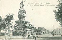 Tarbes; La Place Du Marcadieu Et La Fontaine Monumentale - Non Voyagé. (16. - E. G., Tarbes) - Tarbes