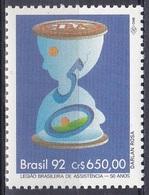 Brasilien Brasil 1992 Gesellschaft Wohlfahrt Welfare Sozialfürsorge Fürsorge Care Sanduhr Hourglass LBA, Mi. 2496 ** - Brasilien