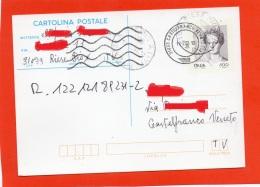 ITALIA 2002 - CARTOLINA POSTALE RICEVUTA DI RITORNO - DONNE FAMOSE- RIESE PIO X - CASTELFRANCO VENETO - 6. 1946-.. Republik