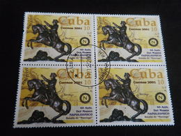 Timbre CUBA 2001 - Bloc De 4 - NAPOLEON - Cuba